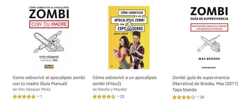 Libros sobe la superviviencia en el Apocalipsis Zombie